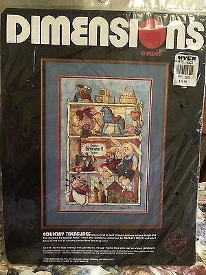 "Dimensions Crewel Embroidery Kit ""country Treasures"" New Unopened"