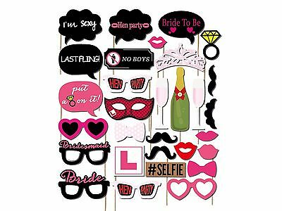 30 Props Photo Booth Moustache Hen Birthday Engagement Wedding Funny B30075