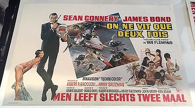 007 You Only Live Twice Belgian Film Poster James Bond