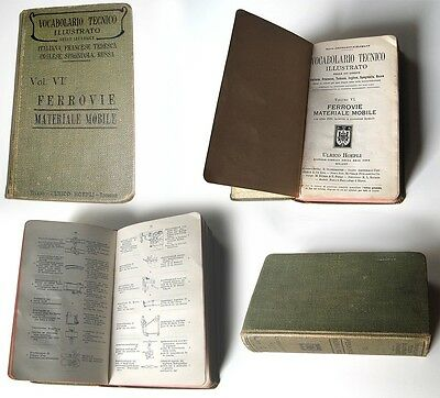 VOCABOLARIO TECNICO FERROVIE MATERIALE MOBILE Manuali Hoepli 1909