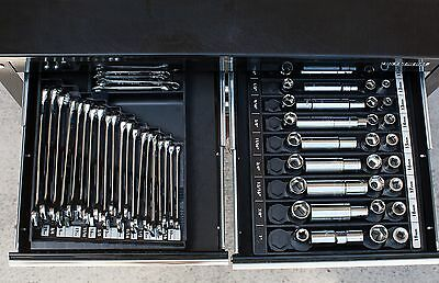NEW Wrench Organizer Tool Sorter Holder Rack Rail Toolbox Craftsman Snapon Black