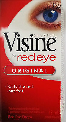 Visine Red Eye Relief Original Fast-Acting eye drop formula GETS THE RED Out