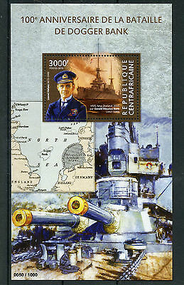 Central African Rep 2015 MNH Battle of Dogger Bank 100th Anniv 1v S/S WWI Stamps