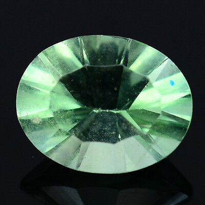 2.03 CT AAA  NATURAL! GREEN CHINA FLUORITE 7.2 x 9.1 mm OVAL CONCAVE CUT