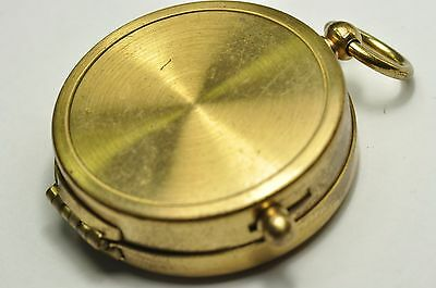 Vintage  Gold Tone Compass Made In German