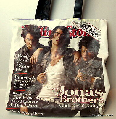 Jonas Brothers Cover on the Rolling Stone Tote Bag