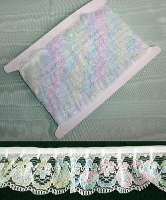 Gathered Lace  - Multi Coloured - 10 metres (188)