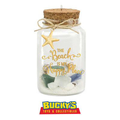 A Day at the Beach 2016 Hallmark Ornament - Shells Starfish Sand My Happy Place