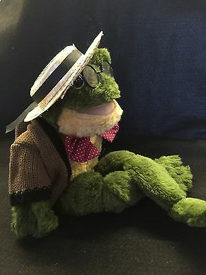 Ganz Cottage Collectibles FLOYD Frog with straw hat and glasses. Rare in the UK