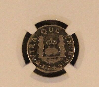 1749 MO M Milled Pillar One Real from Spanish NGC Certified
