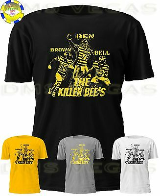 Pittsburgh Steelers Killer Bees Bell Ben Brown Jersey Tee Shirt S-5XL SOLD OUT