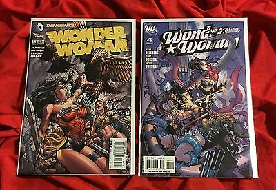 Wonder Woman #37+#4~Set~Signed By David/meredith Finch+Terry/rachel Dodson~