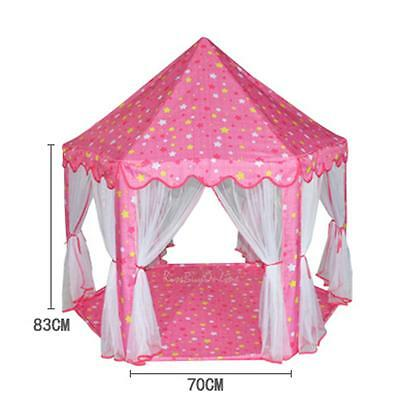 Large Princess Castle Tent Baby Kids Portable Indoor Outdoor Play House Pink