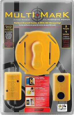 Drywall Electrical Box Locator Tool Kit Multi Mark Cutout New Plug 2 Magnets