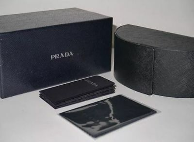 Brand New Prada sunglasses case+cleaning cloth+booklet+gift box