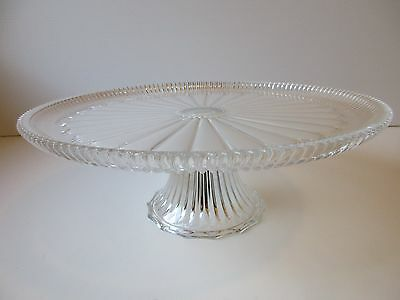 Glass Footed Unique Cake Stand - Very Large Diameter