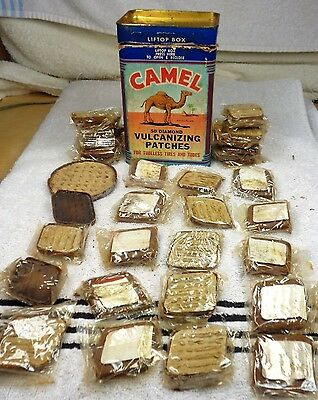 1946 Camel Diamond Volcanized Patches For Tubeless Tires And Tubes 32 Nos Pieces