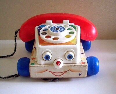 Chatter Telephone 747 By Fisher-Price Copyright 1961, Made In U.s.a.
