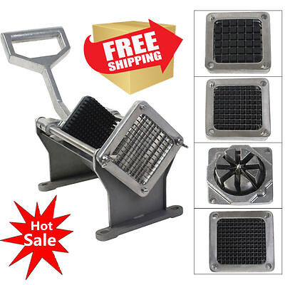 Potato Fruit French Fry Vegetable Cutter Slicer W 4 Blades Commercial Quality OY