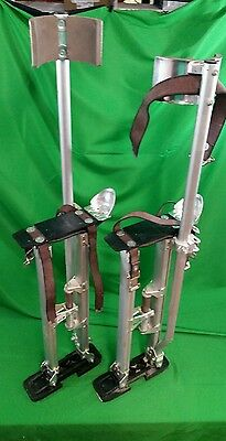 """Set of 2 QLT by Marshalltown Drywall Stilts 24"""" to 40"""" Adjustable"""