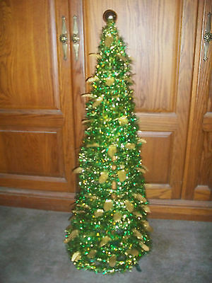"36"" Pop-Up Artificial Christmas Tree W Stand 1 Minute Assembly Office Apartment"