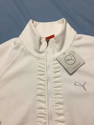 Puma Sport Lifestyle Women's Full Zip LS Golf Jacket (S, White, Polyester)(NWT-A