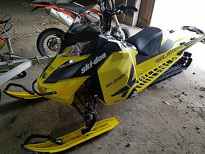 "2016 Skidoo Summit X 800cc 154"" T-Motion T3 Etec Snowmobile Sled"