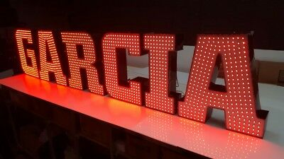 """New Led Channel Letters 22"""" -  Bright Colorful - Custom Made - Any size"""