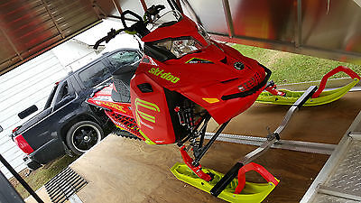 "2016 Skidoo Freeride X 800cc 154"" T-Motion Etec Snowmobile Sled"