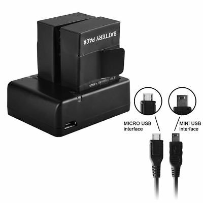 2X AHDBT 301/201 Replacement Battery 1250mAh For GoPro HD Hero3 + USB Charger AU