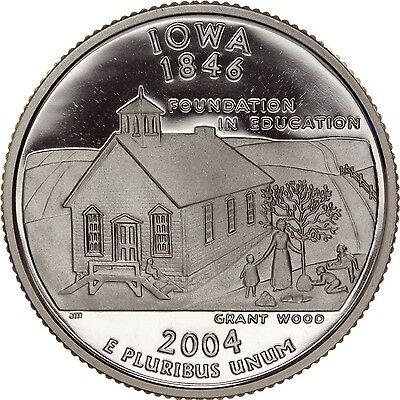 2004-S Iowa State Quarter Gem PROOF Deep Cameo CN-Clad Coin (Discounted!)