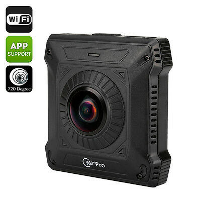 720 Degree View Action Camera - Two Back To Back Cameras, Wi-Fi, H.264