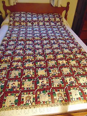 """BUTTONS & DOLLS Print Flannel-Back Tied Comforter Blanket 42"""" x 72"""""""