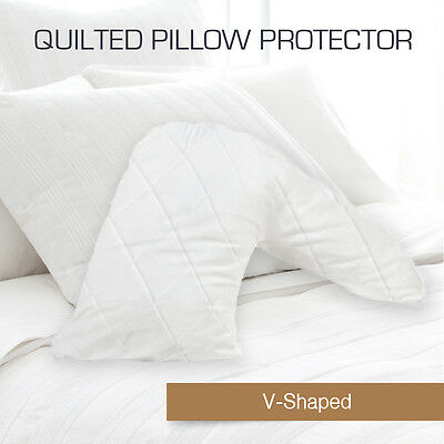 Aus Made Quilted V-Shape/Tri/Boomerang Pillow Protectors Case Cotton Cover