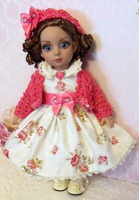 """ROSES FOR SUNDAY"" Dress set for 10"" Tonner Patsy,Ann Estelle dolls -OOAK"