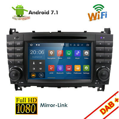 """7"""" Car DVD GPS WiFi 3G 4-Core Android 5.1 For Benz C Class W203 CLK W209"""