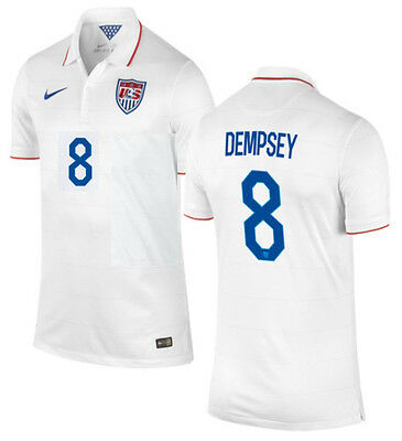 35813f80510 Nike Clint Dempsey Usa Youth Home Jersey Fifa World Cup Brazil 2014.
