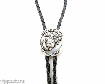 United States USMC Marine Corps Western Cowboy Rodeo Bolo Tie