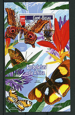 Guinea-Bissau 2015 MNH Butterflies of Africa 1v S/S Insects Moths Stamps