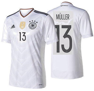 203de2e00 ADIDAS GERMANY EURO 2016 THOMAS MULLER HOME JERSEY White Black ...