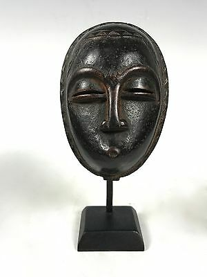 African Art Baule Passport Mask With Stand