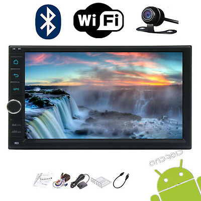 "Android 5.1 7"" Touch Screen Car GPS Navi 2Din Player Stereo Wifi Freecam&ship"