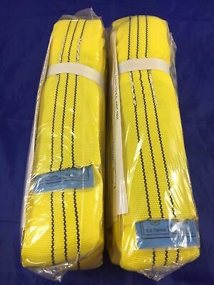 2 x Loadset 3T  x 1.5m Ton Polyester Round Lifting Sling Test Cert. AS 4497.1