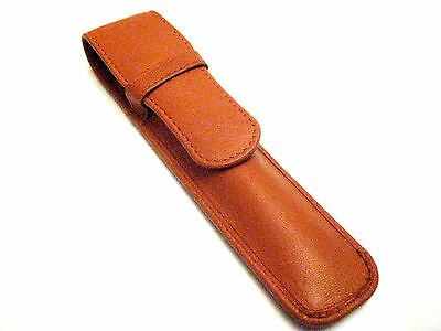 Tan Single REAL Napa Leather Pen Case/Pouch.