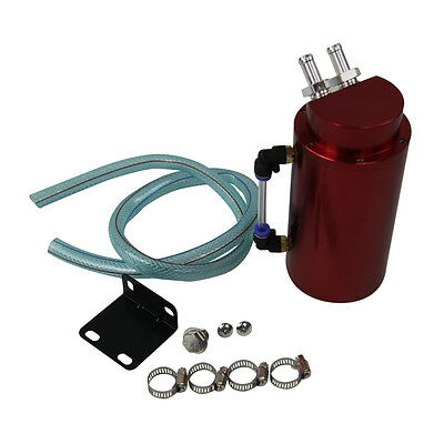 Oil Catch Tank Reservoir Breather Can & Hose New For Balck Alloy Cylinder Engine