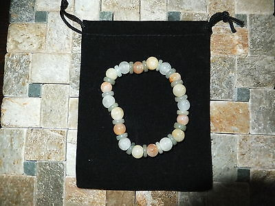 JADE STRETCH MULTICOLOUR BRACELET  NATURAL STONES  115Ct