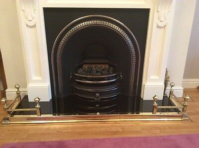 Brass Fender,fire surround with Ball and Claw Detail