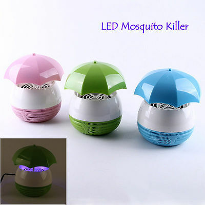 Electronic Mini Mosquito Killer LED Lamp Repeller Fly Bug Insect Trap Zapper