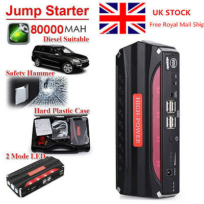 80000mAh Car Jump Starter Pack Booster Battery Charger 4 USB Power Bank