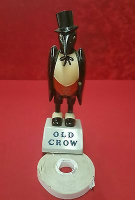 "VINTAGE ..."" OLD CROW "" WHISKEY advertising figure / statue"